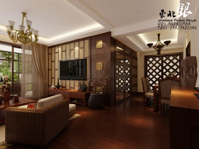 Living Dining Asian Style Interior Design Ideas