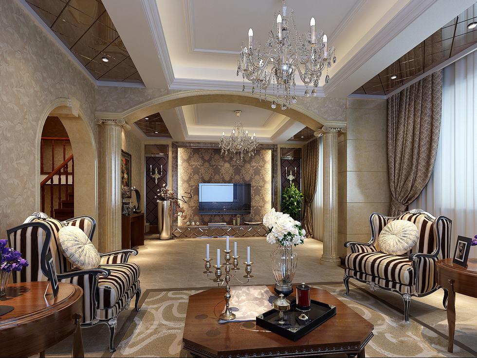 Versace Inspired Chinese Living Interior Design Ideas