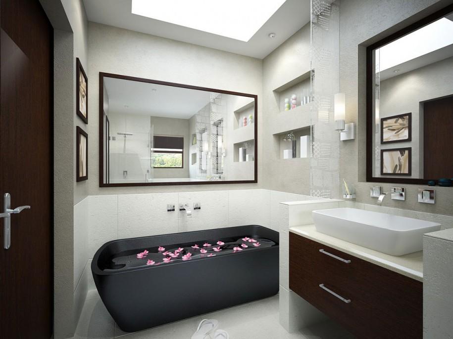 Modern Bathroom Inspiration on Monochromatic Bathroom Ideas  id=28051