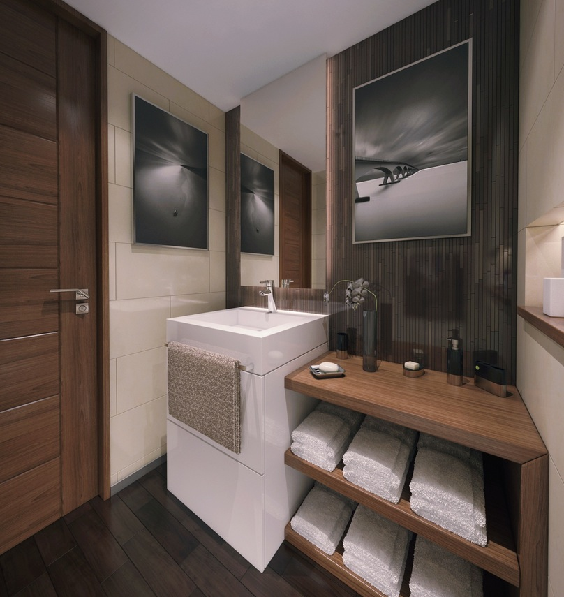 Three Modern Apartments: A Trio of Stunning Spaces on Bathroom Ideas For Apartments  id=63449