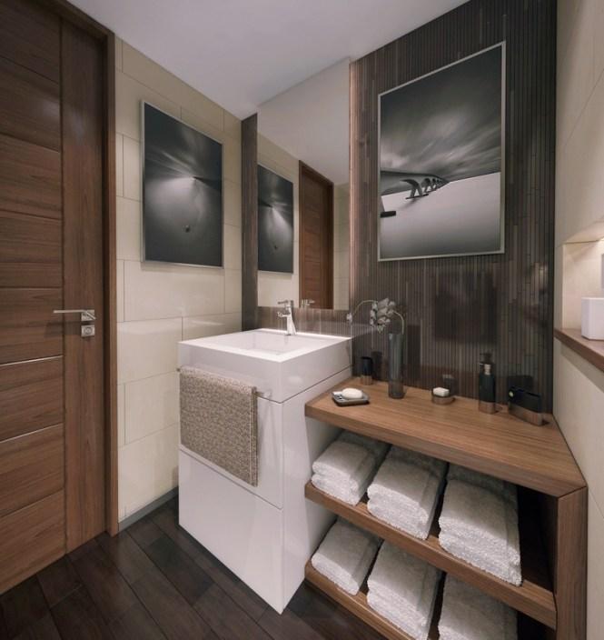 Contemporary Apartment Bathroom 2