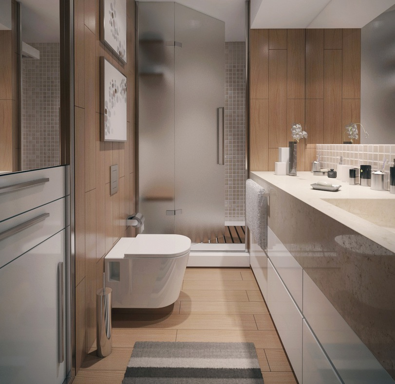 Three Modern Apartments: A Trio of Stunning Spaces on Small Apartment Bathroom Ideas  id=61490