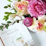 Floral Arrangement Peonies And Magazine Styling Interior