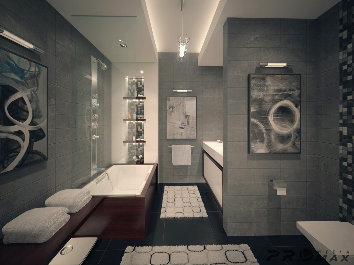 Three Modern Apartments: A Trio of Stunning Spaces on Bathroom Ideas Apartment  id=95829