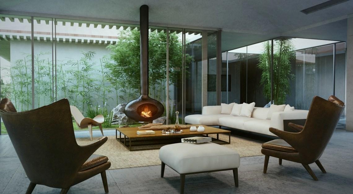 modern cottage living room 3   Interior Design Ideas.