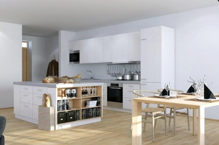 Scandinavian Studio Apartment Kitchen Open Plan Dining