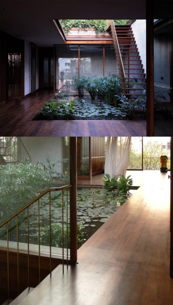 homes with indoor garden design ideas Homes with Indoor Ponds