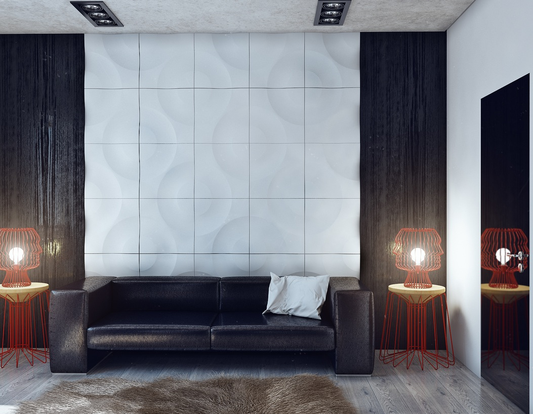 Black And White Wall Texture Interior Design Ideas