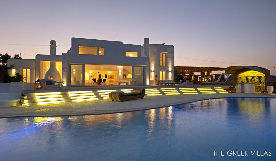 Night View Mediterranean Villa Interior Design Ideas