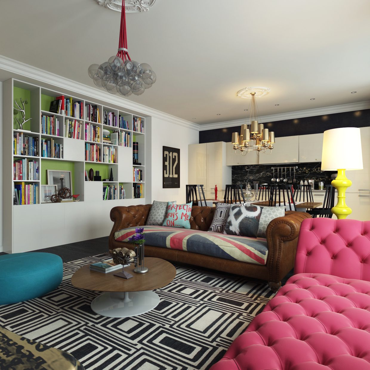 Modern Pop Art Style Apartment on Apartment Decorating Styles  id=68994