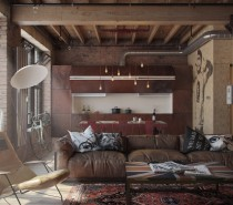 1-crazy-comfortable-leather-sofa-210x185 Three Industrial Style Lofts WIth Natural Accents Upholstery in Victoria