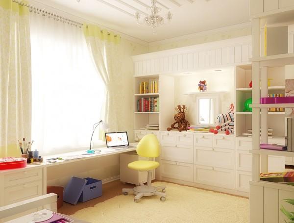White kids bedroom