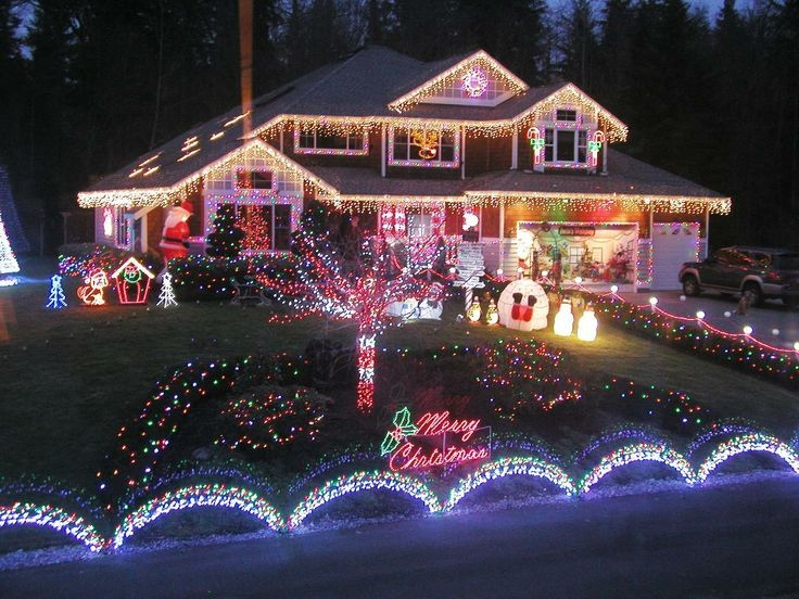 Christmas Lights Show House