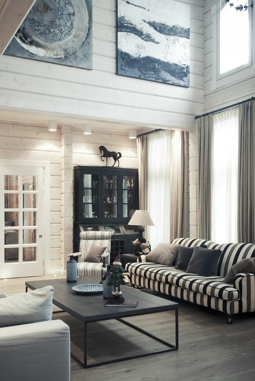 Striped Sofa Interior Design Ideas