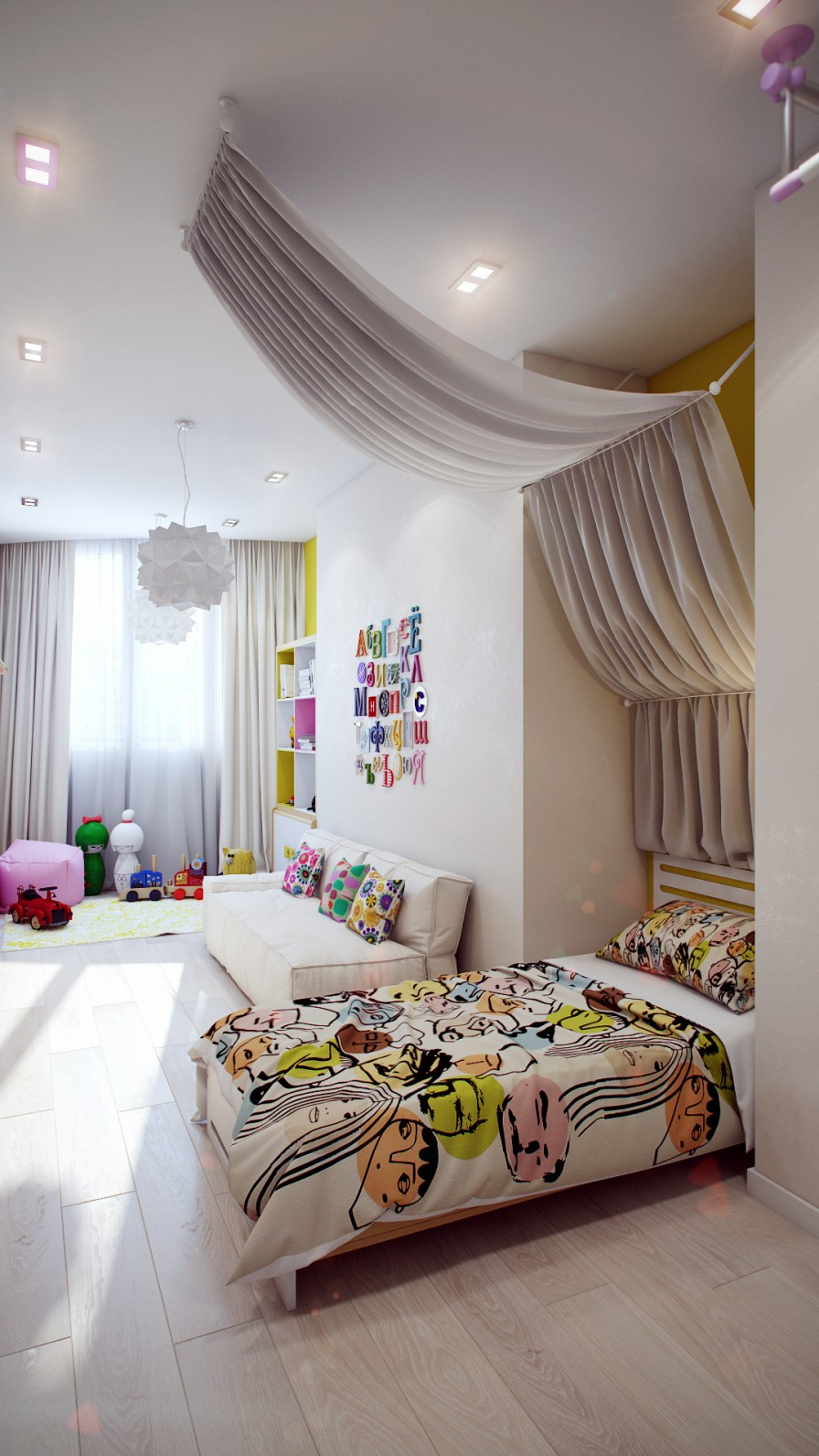 Crisp and Colorful Kids Room Designs on Rooms For Teenagers  id=38601