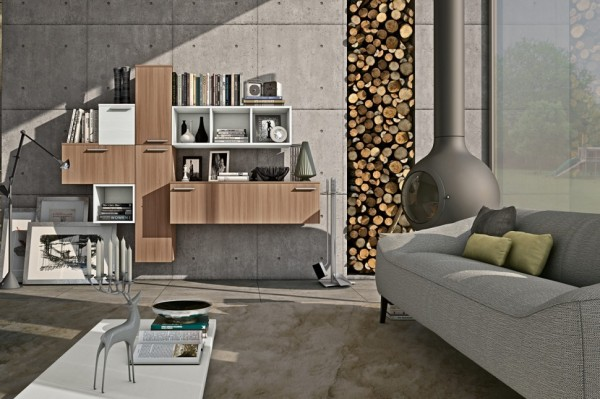 Modern Living Room Wall Units With Storage Inspiration HOME INTERIOR 1
