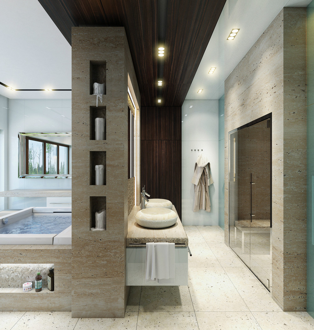 An In-depth Look at 8 Luxury Bathrooms on Small:e_D8Ihxdoce= Restroom Ideas  id=95207