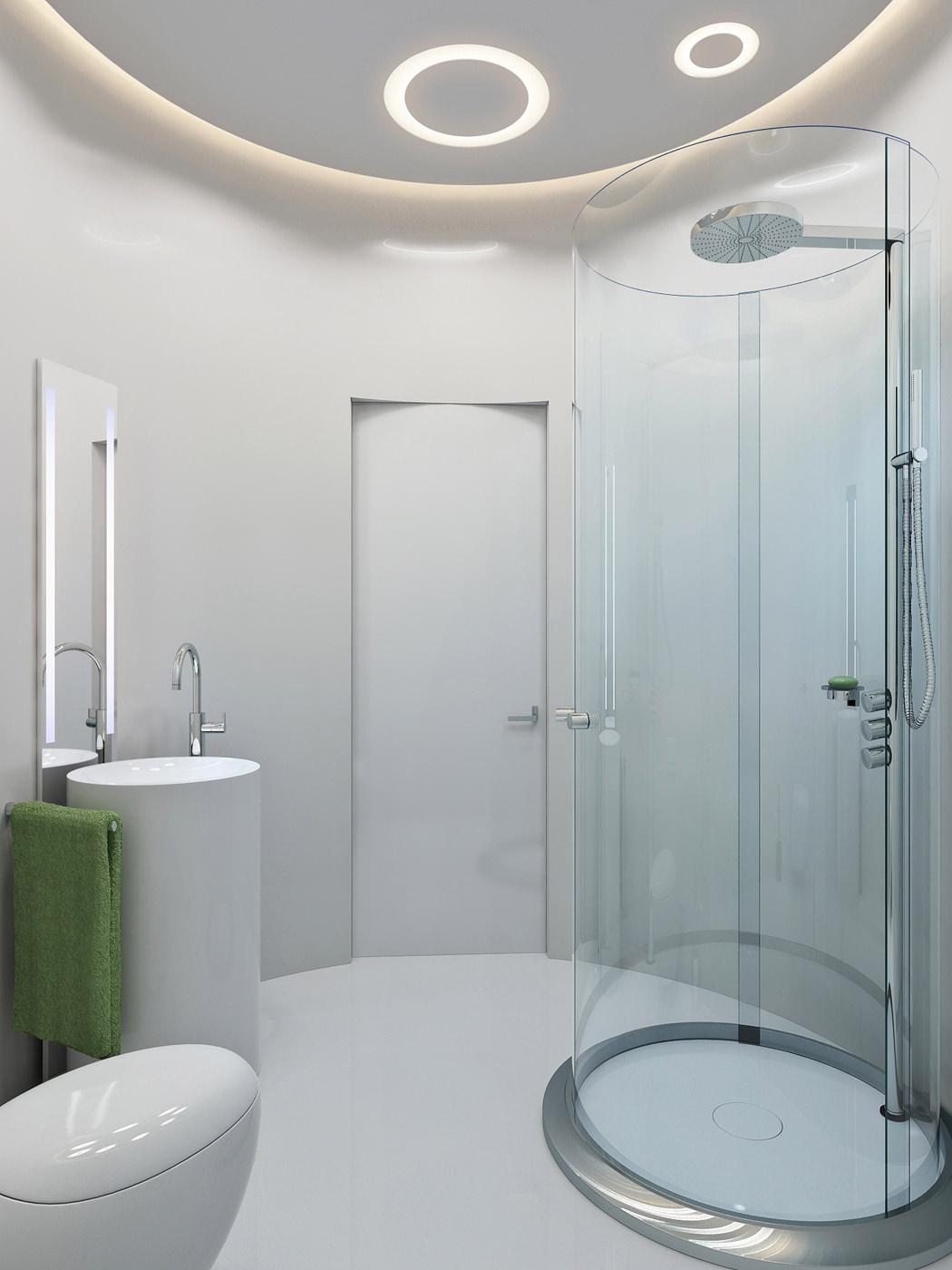 Ceiling Light Over Shower