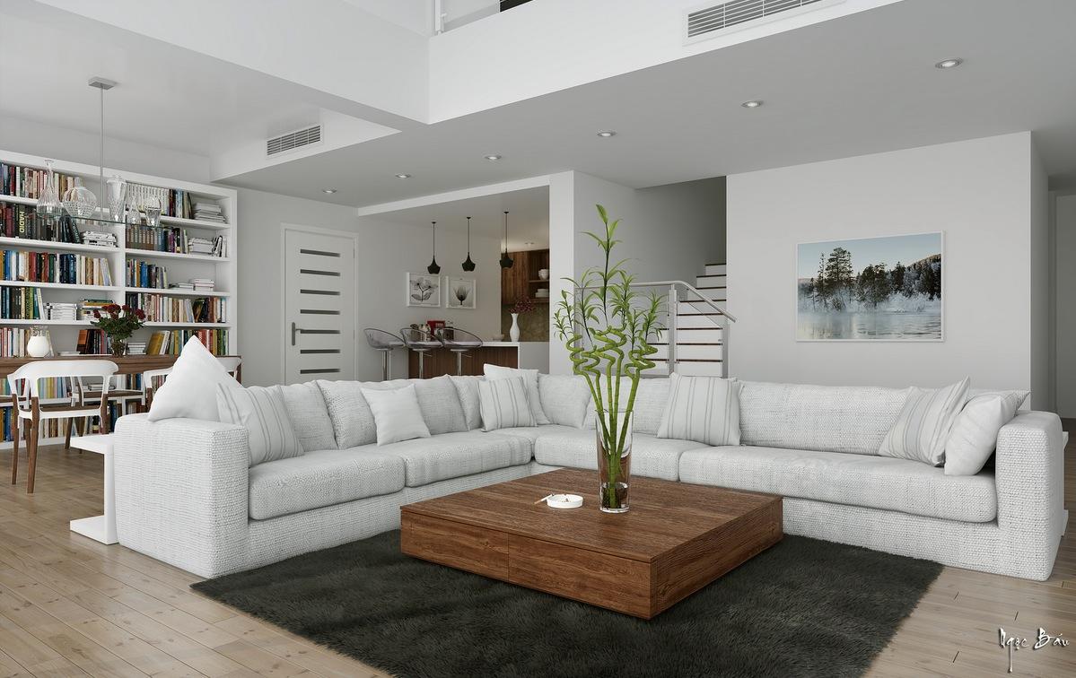 White L Shaped Sofa Interior Design Ideas