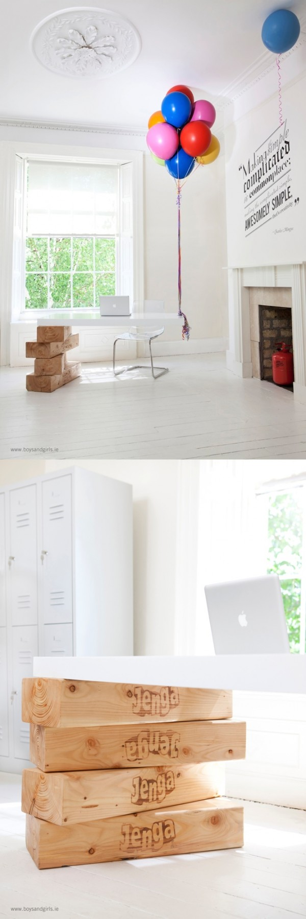 24 Jenga block desk