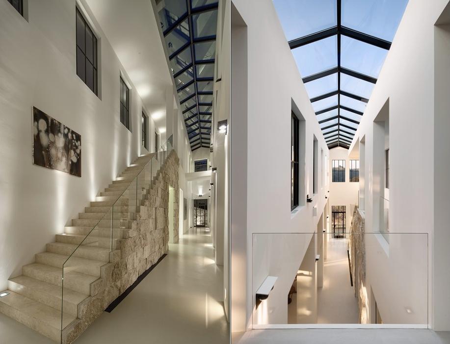 Roof Long Skylight Interior Design Ideas