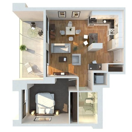 1 bedroom apt floor plans   Maribo intelligentsolutions co 1 bedroom apt floor plans