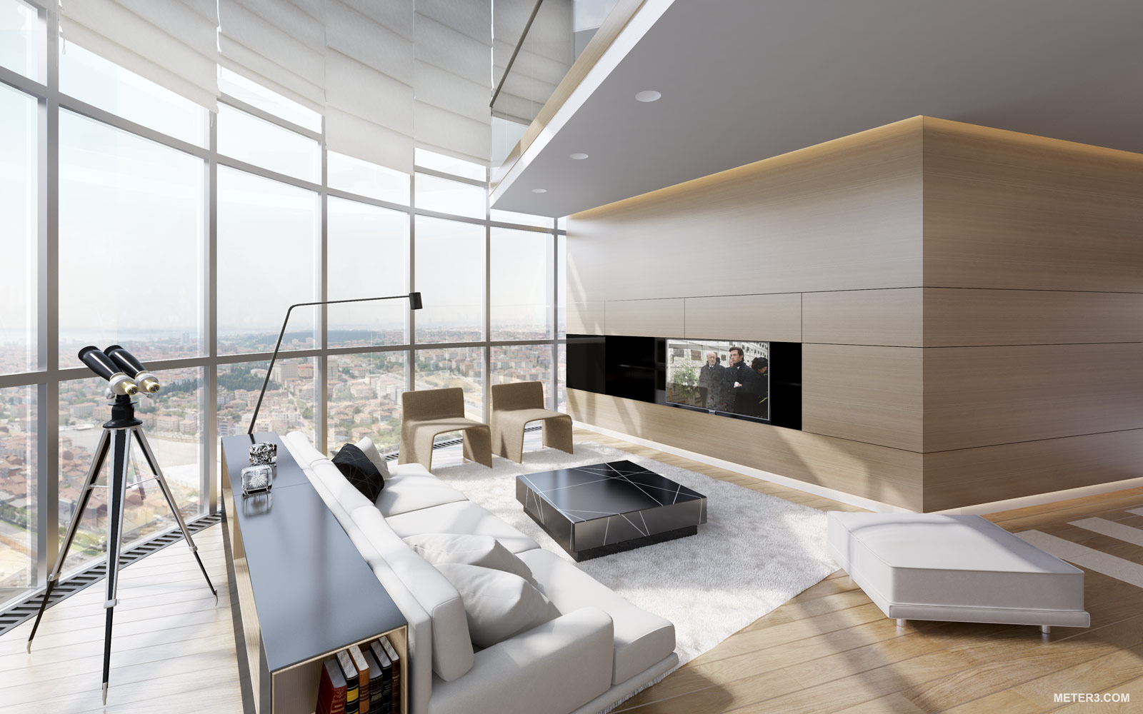 Smoking Hot Penthouse Interior Designs Visualized