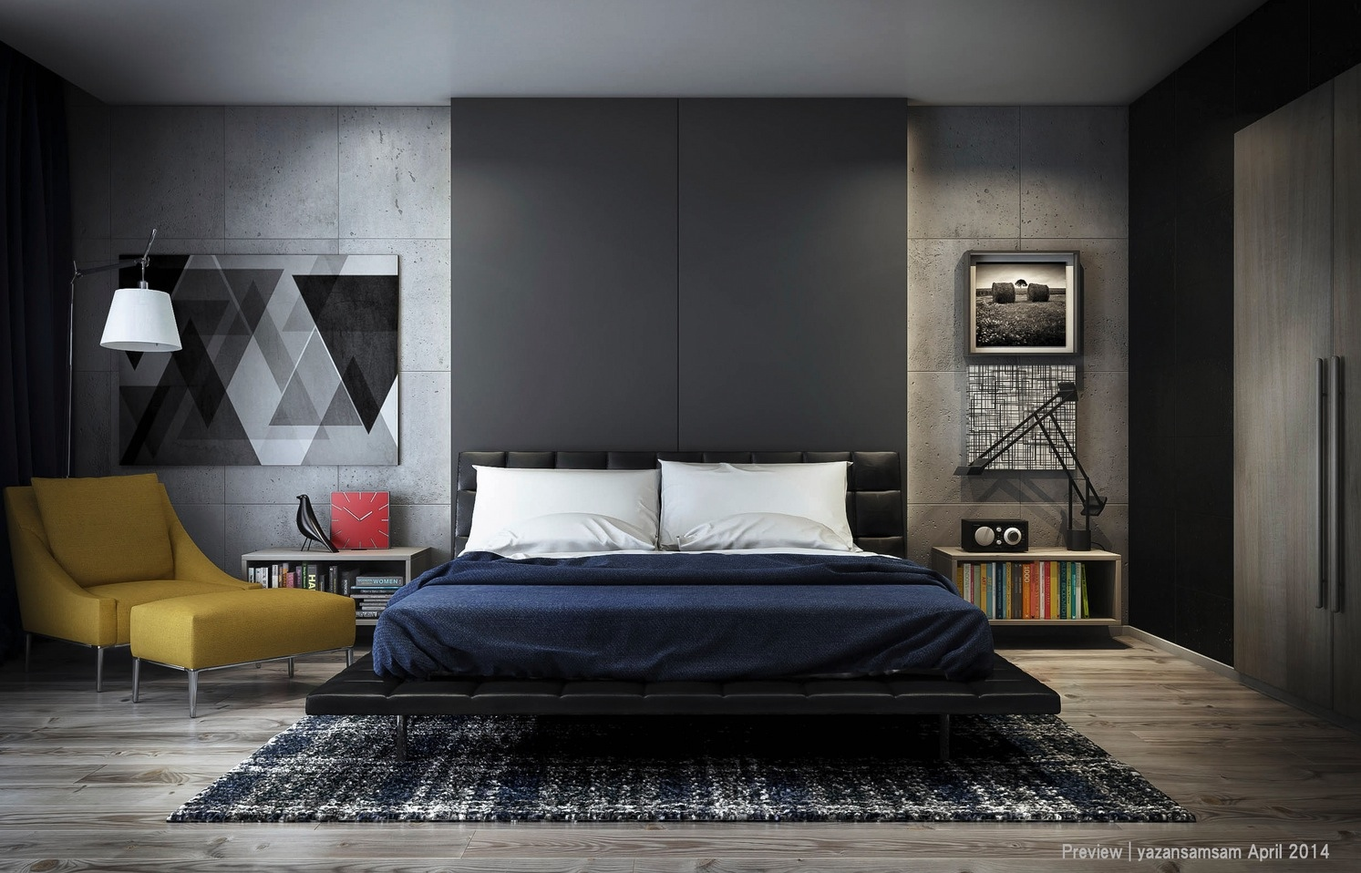 25 Newest Bedrooms That We Are In Love With on Bedroom Wall Decor  id=49390