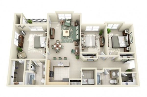 3 bedroom house layouts