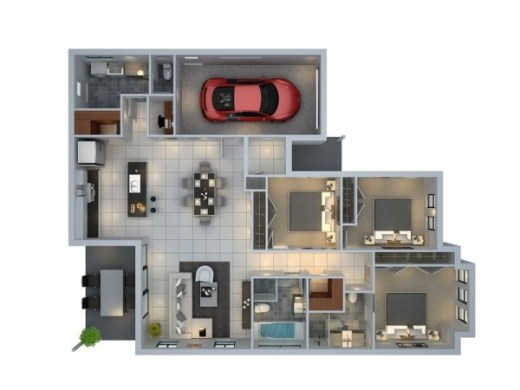 3 Bedroom Apartment House Plans 38