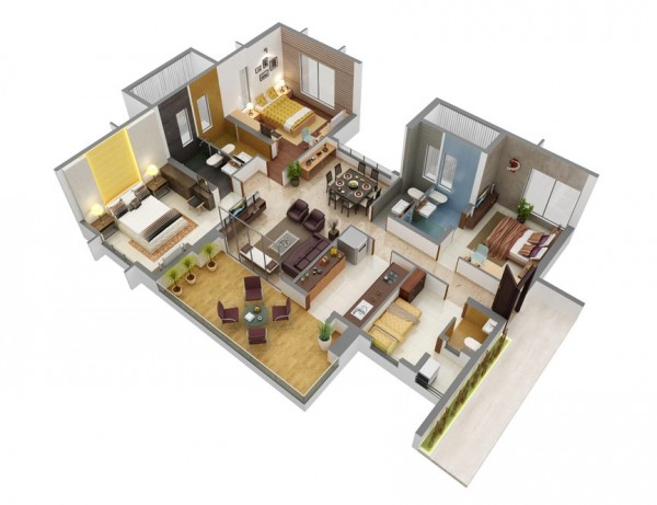 beautiful 3 bedroom plans