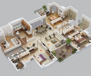 1 Bedroom Apartment House Plans 3 Bedroom Apartment House Plans