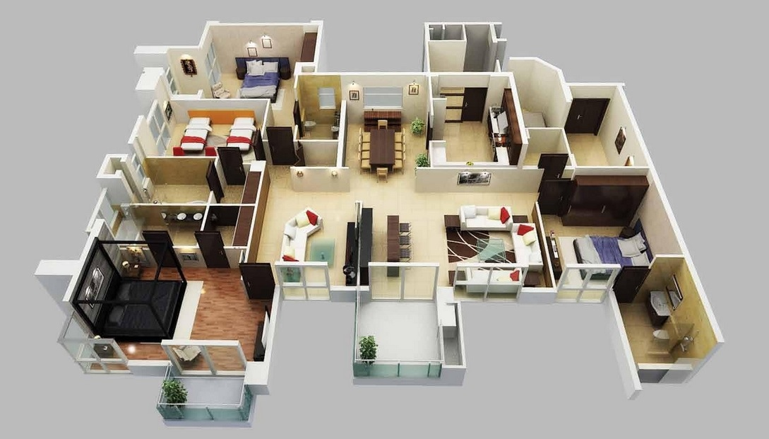16+ 4 Bedroom 3 Bath House Plans One Story Images