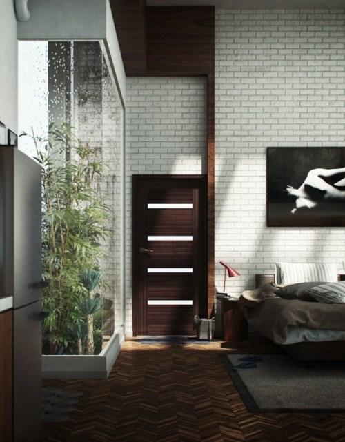 Dormitorio con detalles en la decoración originales