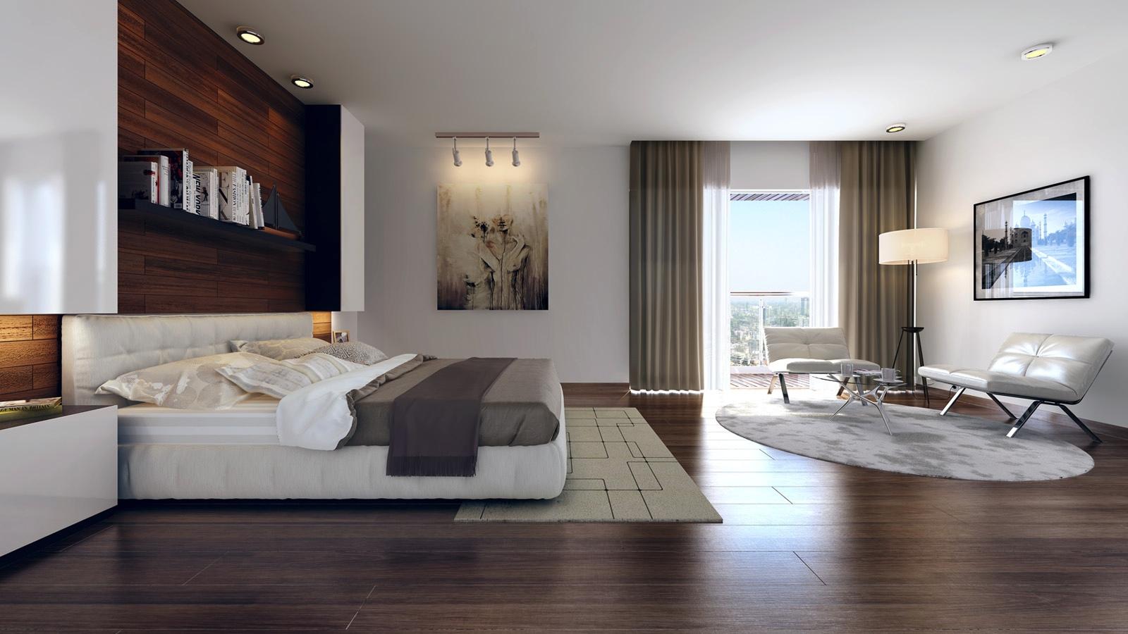 Dark Wood Bedroom Floor