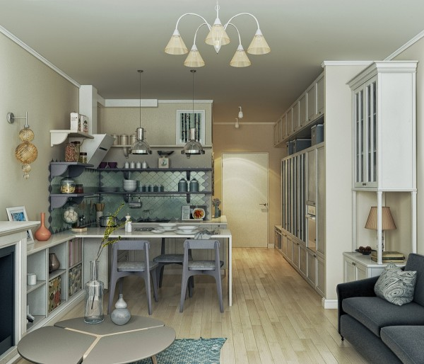 From this angle we get an idea of the huge amount of storage the designer has managed to include without making the space feel any smaller. After all, we need our stuff to live!