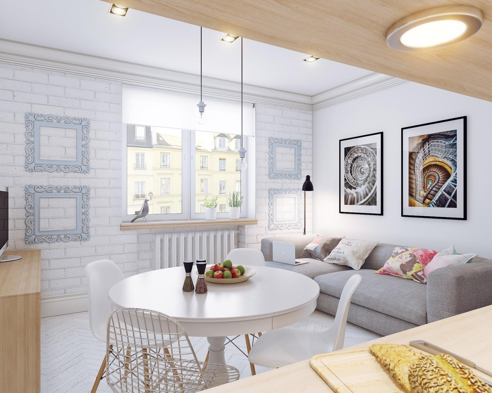 Arredare soggiorno pranzo in vendita in arredamento e casalinghi: Small Open Plan Home Interiors