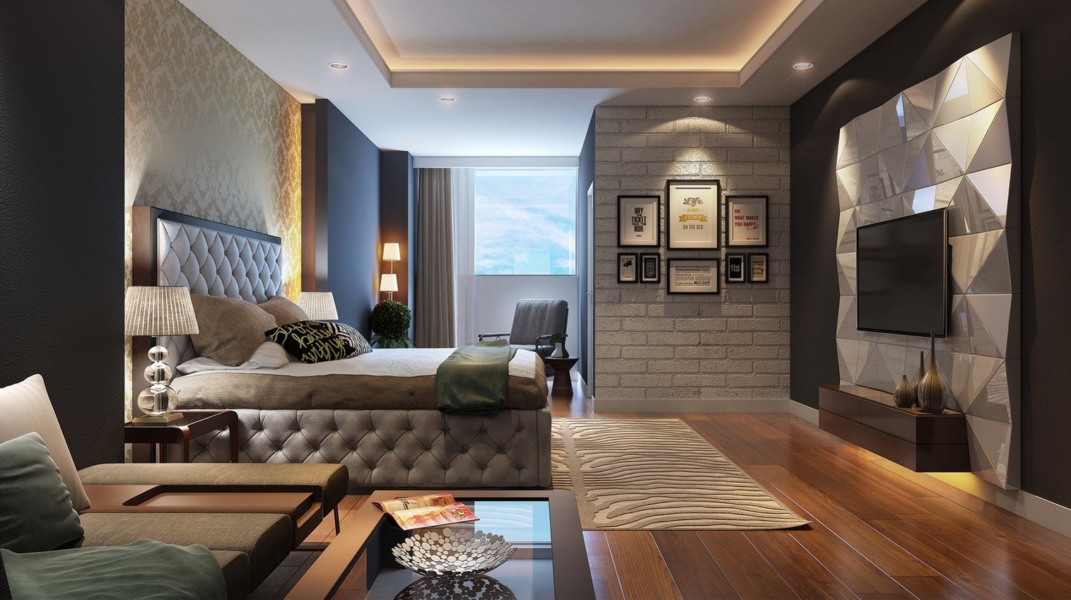 21 Cool Bedrooms for Clean and Simple Design Inspiration on Cool Bedroom Ideas For Small Rooms  id=81109