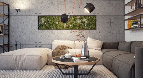 indoor gardens apartment design 5 Kiev Apartments with Verdant Vertical Gardens and Other