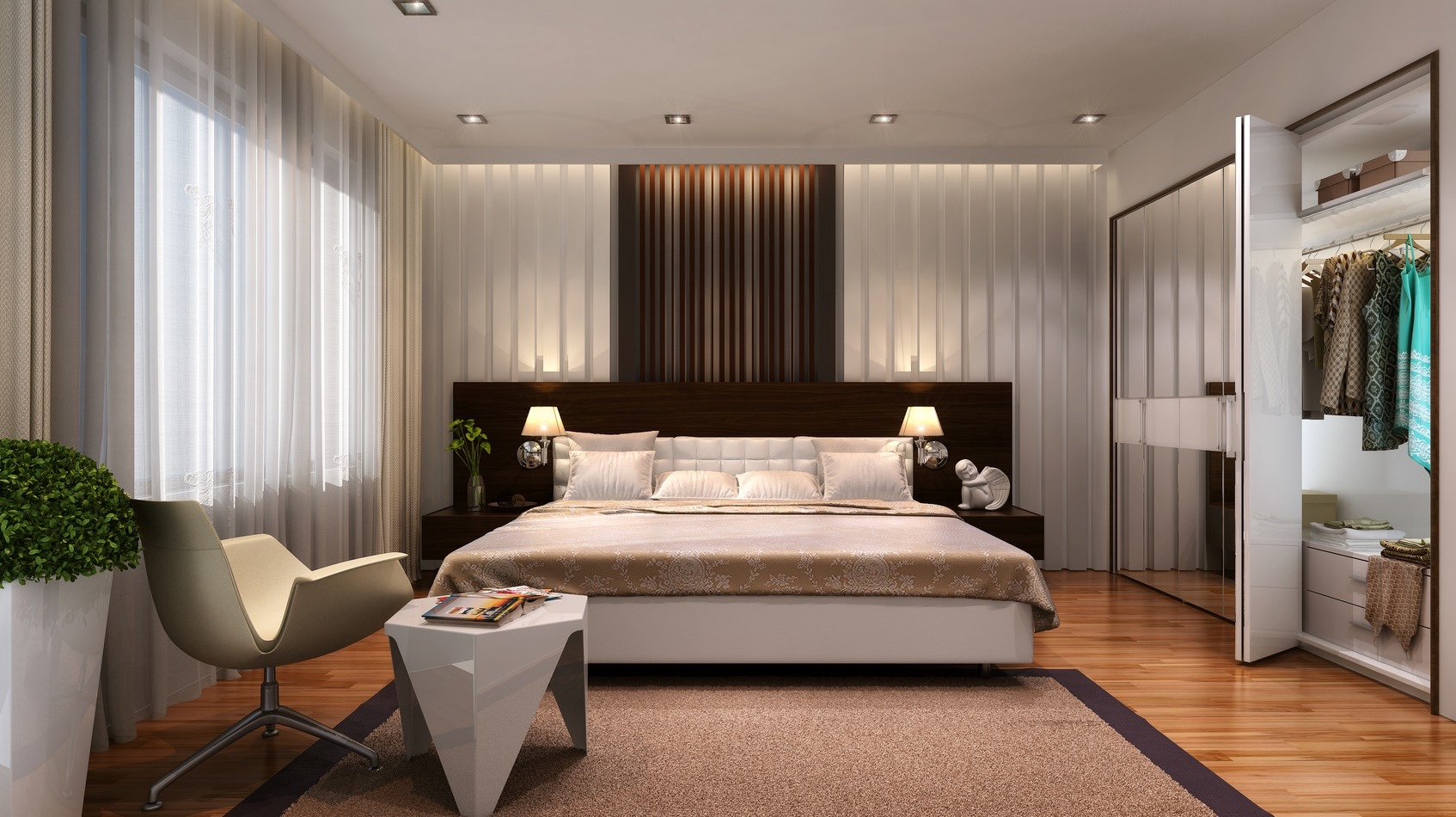 21 Cool Bedrooms for Clean and Simple Design Inspiration on Cool Bedroom Ideas For Small Rooms  id=64325