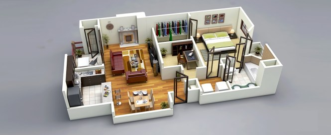 2 Visualizer Floorplanz This One Bedroom