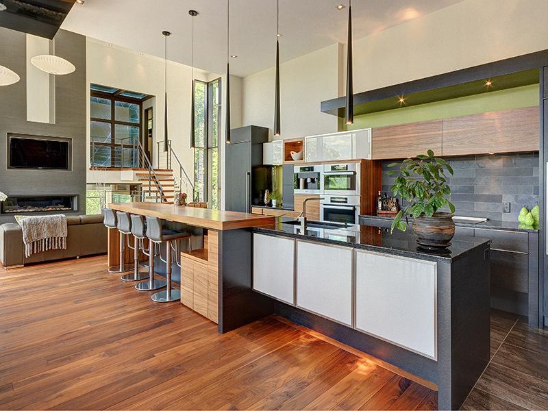 Luxury Mountain Retreat is Not Your Average Log Cabin on Ultra Modern Luxury Modern Kitchen Designs  id=44374