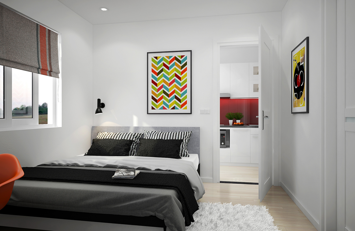 Scandinavian Apartment With Adorable Art and Classic Colors on Small Room Idea  id=29089