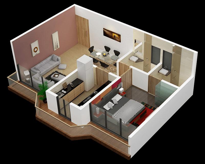 Small One Bedroom House Design Novocom Top