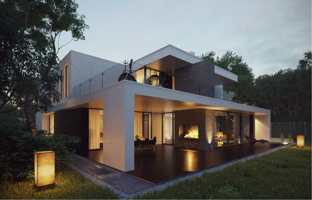 Modern Home Exteriors with Stunning Outdoor Spaces on Home Backyard Ideas  id=34484