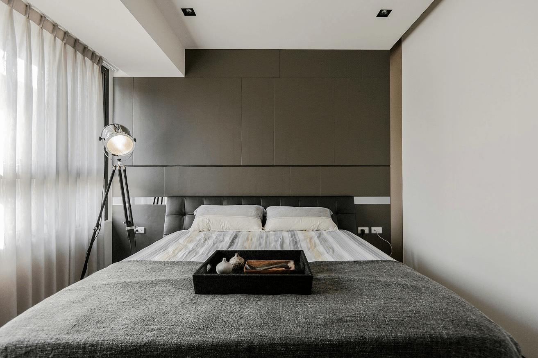 Stone and Wood Make a Dark, Masculine Interior on Bedroom Minimalist Ideas  id=23422