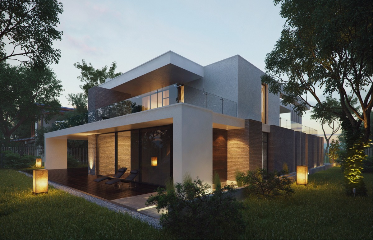 Modern Home Exteriors with Stunning Outdoor Spaces on Modern House Ideas  id=32367