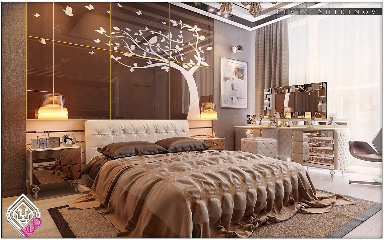 soft-brown-bedroom | interior design ideas.