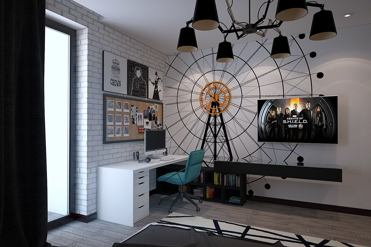 Funky Rooms That Creative Teens Would Love on Creative Wall Decor  id=83572
