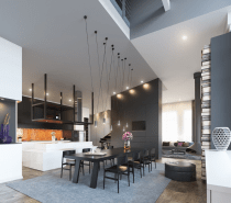Elegant Sometimes A Beautiful Interior Starts With Just A Single Idea. Such Was The  Case With This 72 Square Meter Townhouse In Minsk, Belarus From Visualizer  ...